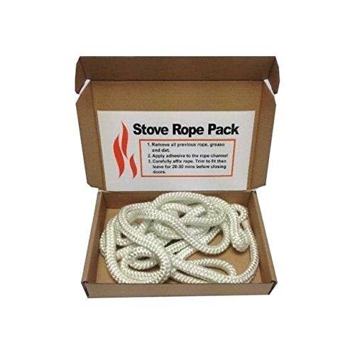 Kit corda in lana di vetro per la sostituzione della porta della stufa, corda standard, misure 5mm x 2m