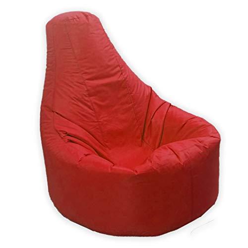 Grande pouf per gamer, reclinabile per esterni e interni, da gioco, XXL, rosso – resiste all'acqua e agli agenti atmosferici