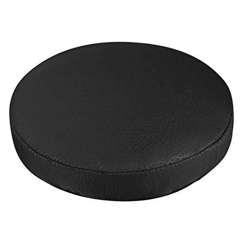 VORCOOL Rivestimento rotondo per sgabello, cotone elastico 33 cm (nero)