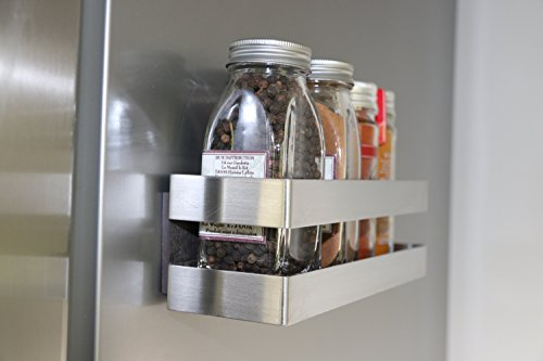 COMPACTOR Porta spezie magnetico, Fino a 1,5 kg, Acciaio inox, Argento, 20.5 x 6 x H.6 cm, RAN8201 4