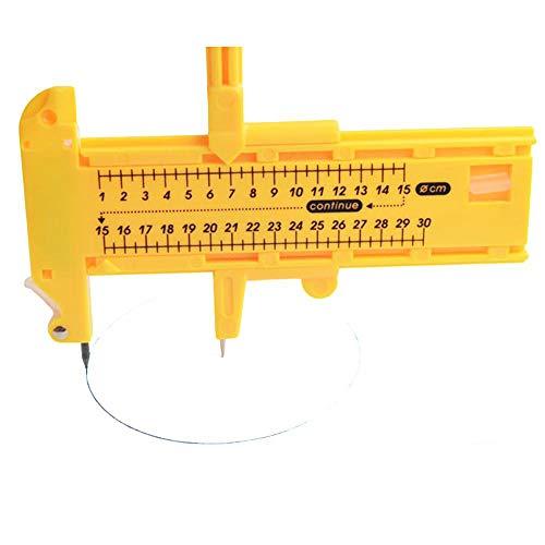Compass Circle Cutter, Alta Precisione Circolare Draw Strumento di Immagine per Il Taglio del Cuoio Della Carta di Carta (Cut Diametro 10mm 300mm)