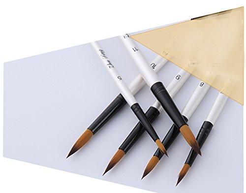 Pennelli Acquerello, Wartoon 12 Pezzi Nylon di Pittura Artistica Pennelli Pittura per Dipingere Acrilico Inchiostri Acquerelli Gouache, Bianco 4