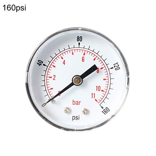 """Manometro 52 mm quadrante 1/8""""BSPT orizzontale 0/15,30,60.100,160,300 PSI & Bar"""