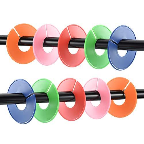 Cizen Grucce Divisori, 25Pz Divisori Rotondi Multicolore per Dividere Vestiti per Taglia, per Vestiti di Bambino Ragazzo Ragazza – 5 Colori 5