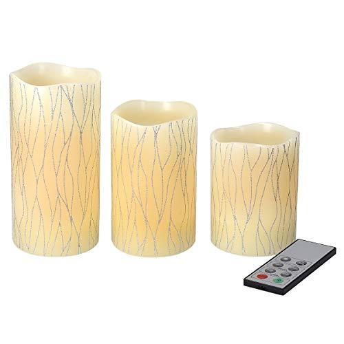 Set di 6 candele a LED in cera alimentate a batteria