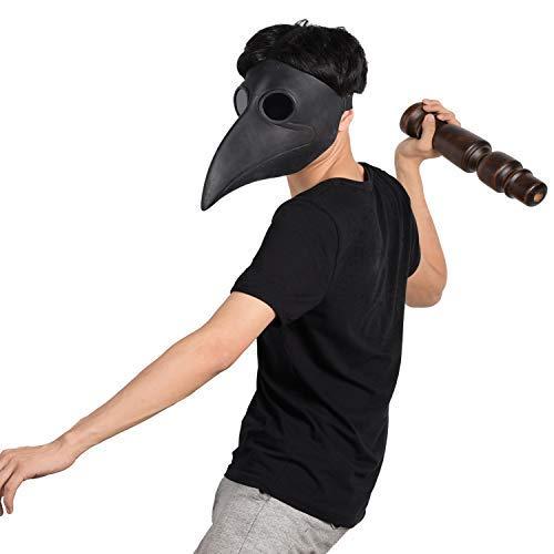 Finalshow Steampunk Maschera Becco Maschera Halloween Steampunk Costume Dottore Maschera di Cuoio Elaborazione Maschera Intera Masquerade Mask 4