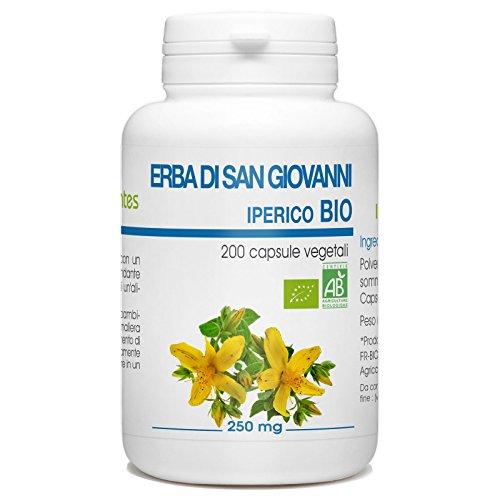 IPERICO o ERBA DI SAN GIOVANNI (Hypericum perforatum) erba con fiori Tintura Madre analcoolica NATURALMA | Estratto liquido gocce 100 ml | Tono dell'umore | Integratore alimentare | Vegano