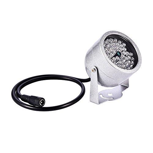 VBESTLIFE Illuminatore IR per videocamera, 48 LED per Visione Notturna a infrarossi Impermeabile per Telecamera CCTV di Sicurezza