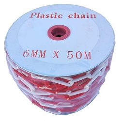 SNS SAFETY LTD Catena di Plastica per Il Parcheggio, Bianca e Rossa, 6 mm, 50 Metri