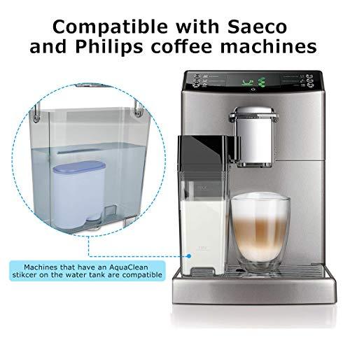 Filtro Acqua per Macchina Caffè, Filtro Acqua Anticalcare CA6903 Aquaclean Filtro Acqua per Macchina da Caffe Philips e Saeco (2 Pezzi) 8