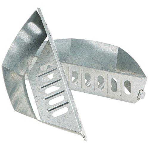 Bruzzzler Porta mattonelle di Carbone, vaschetta per bricchetti per griglia a Cottura indiretta, Set da 2