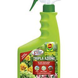 Compo Tripla Azione, Spray Insetticida, Fungicida, Acaricida, Pronto all'Uso, per la Protezione di Piante Ornamentali e da Fiore di Tipo arbustivo ed erbaceo, 750 Ml,
