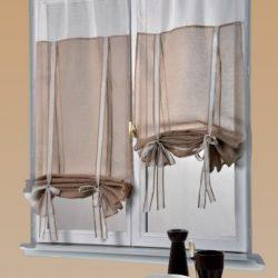 Tenda plissettata per finestre, con supporti da avvitare, senza fori, in tessuto Pearl di alta qualità, per protezione da sole e sguardi indiscreti