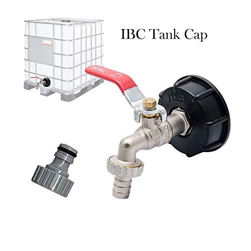 MASO adattatore IBC S60X6 per serbatoio, per rubinetto da giardino in ottone con raccordo da 1,27 cm per olio, carburante, acqua