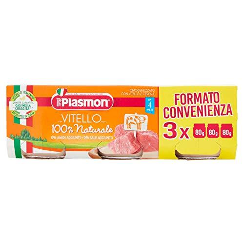 Plasmon Omogeneizzato con Carne di Vitello e Cereale – 240 g (3 x 80 g) 2