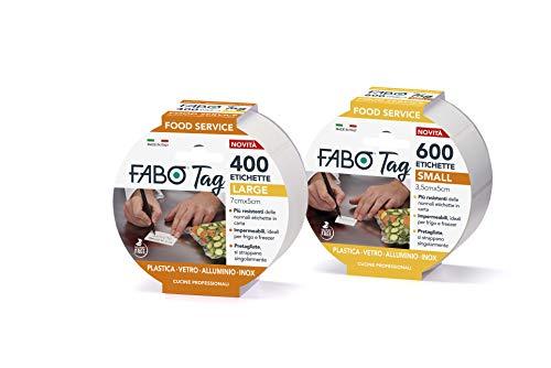 FABO TAG ETICHETTE IMPERMEABILI PER FOOD SERVICE