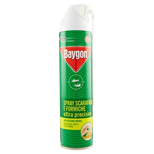 Baygon Spray con cannuccia Extra Precision contro Scarafaggi e Formiche – 2 Confezioni da 400 ml 2