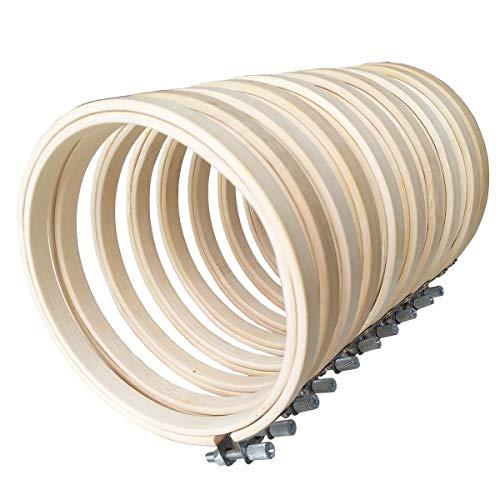 10 pz Telaio da Ricamo Punto a Croce Kit Anello Cerchio Ricamo in Bamboo Telaio Ricamo Tambour Cross Stitch Kit