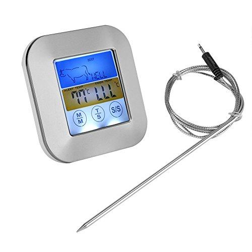 TOPINCN Digital Food Meat Thermometer Touchscreen Timer Alert per Cucina Barbecue da Cucina