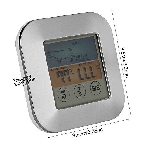 TOPINCN Digital Food Meat Thermometer Touchscreen Timer Alert per Cucina Barbecue da Cucina 3