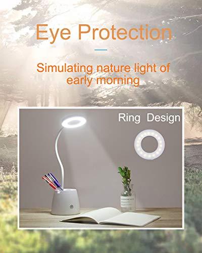 Lampada da Scrivania LED, Luce da Scrivania, Lampada da Tavolo per la Protezione Degli Occhi con 3 Modalità di Illuminazione, Dimmerabil 3