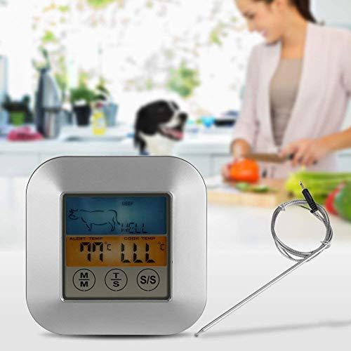 TOPINCN Digital Food Meat Thermometer Touchscreen Timer Alert per Cucina Barbecue da Cucina 4