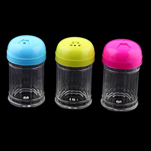 sourcing map Casa Ristorante cilindro materia plastica forma scatola stuzzicadenti supporto colori assortiti 5pz. 3