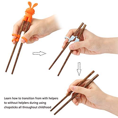 Exzact EX-CS04 Set di Bacchette Regalo – 4 Paia di Bacchette di bambù Naturale riutilizzabili con