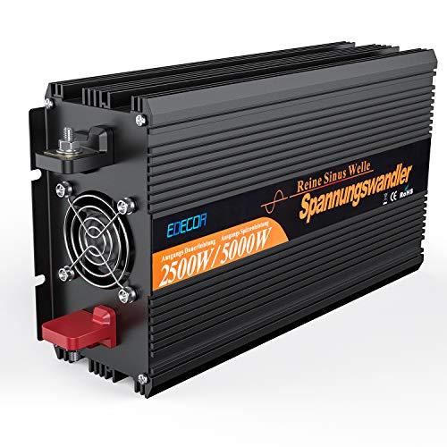 EDECOA Power Inverter Onda Sinusoidale Pura 2500w 5000w Trasformatore di Tensione Convertitore DC 12v in AC 220v 230v Invertitore di Potenza