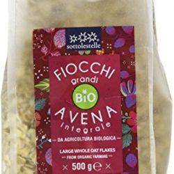 Sottolestelle Fiocchi Grandi di Avena Integrale – 8 confezioni da 500gr – Totale  4 kg