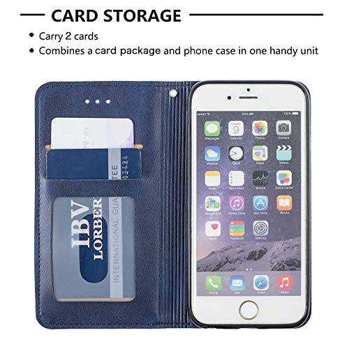 Cover iPhone 6 / iPhone 6s, Bear Village® in Pelle di Portafoglio Cover con Funzione Supporto e Slot per Schede, Cover a Portafoglio per Apple iPhone 6 / iPhone 6s, Blu 7