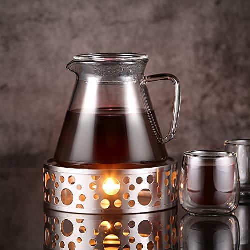 Glastal Scalda Teiera in acciaio inox fornello a candela per teiere 5