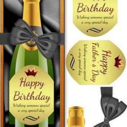 Compleanno o festa del papà grande DL bottiglia di vino di Tanya Hall