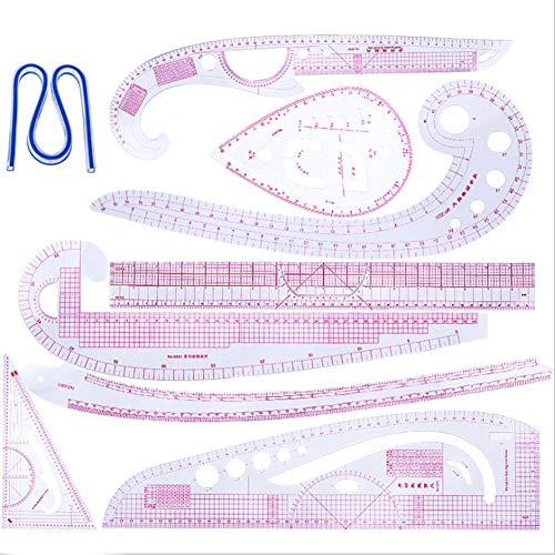 xiangpian183 Curve di plastica metrico Cucito Righello Set 7 Style Misura Panno Trimmer Fai da Te Abbigliamento di Misura Righello Strumento di Cucito per Pattern Regola Dressmaking Fare