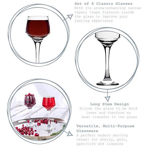Argon Tableware Bicchiere da Sherry/liquore – in Vetro – 80 ml – 6 Pezzi 3