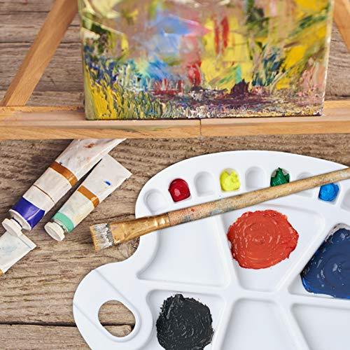 Relaxdays, Bianca Tavolozza dei Colori, con Foro per Il Pollice, per Studenti e Pittori, con 20 Vaschette, in Plastica, 1.5 x 34 x 25 cm 4