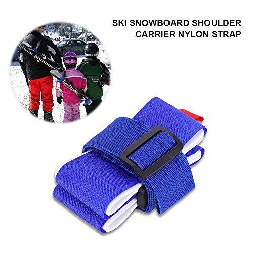 Dilwe Cinghia da Sci, Tracolla Regolabile Pettorina da Spalla con Imbottitura per Snowboard Tavola da Skateboard Tappetino per Yoga Accessori per Sport Invernali all'aperto(Blu) 8