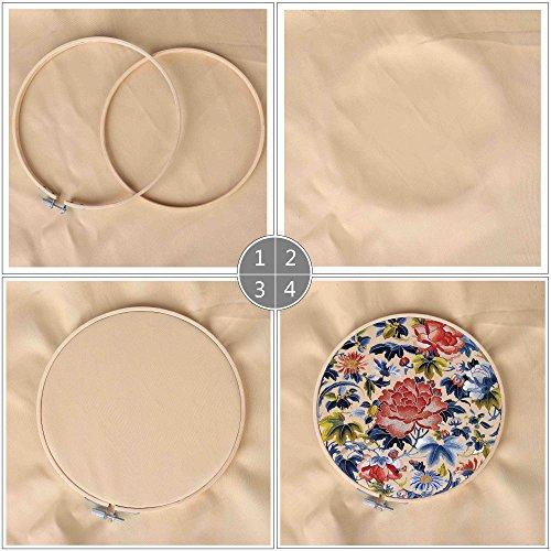 QH-Shop Cerchio da Ricamo, bambù Ricamo Kit Telai Assortiti Rotondi per DIY Arte Mestiere Maneggevole Cucire 5packs 6