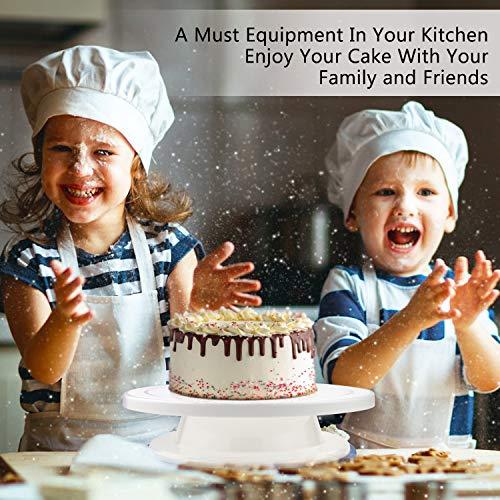 WisFox Decorazione la Torta Kit di Utensili da Decorazione con 2 set di coltelli, Set di 3 glassa liscia perfetta per torte, torte e crostate 8