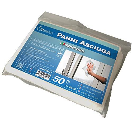 MEDICAL SUD PROFESSIONAL 50 Panni Asciuga Monouso in Non Tessuto Assorbente Morbido e Resistente Cm 30 x 40 Made in Italy 6