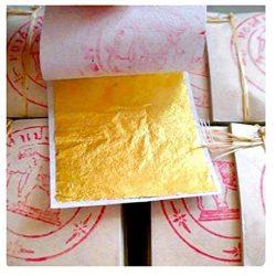 20 fogli di foglia oro – 999/1000 purezza – 24 carati – oro puro – commestibili 2