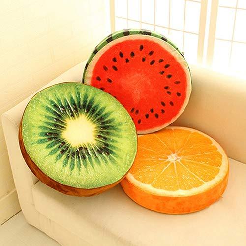 XdiseD9Xsmao Cuscino Rotondo Morbido Durevole Cuscino di Peluche Arancia Kiwi Anguria Giocattoli di Frutta Cuscino per Sedile Cuscino per Divano di Casa Decorazioni per Soggiorno 3#