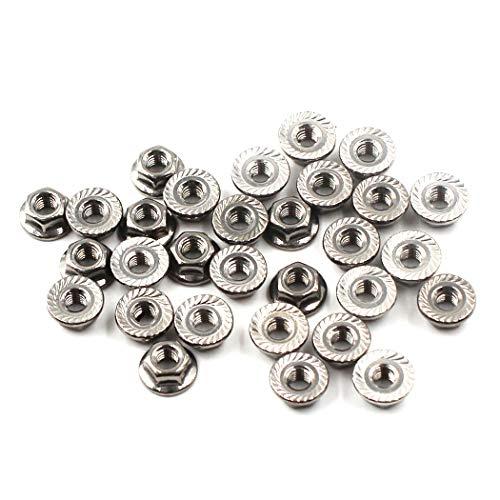 Dado a flangia M6 Dado a flangia esagonale acciaio inossidabile 304 (confezione da 30)