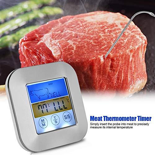 TOPINCN Digital Food Meat Thermometer Touchscreen Timer Alert per Cucina Barbecue da Cucina 8