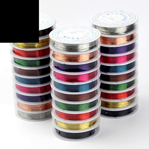 SUPVOX 0,38 millimetri gioielli che bordano il filo di rame per i mestieri che bordano monili che fanno, ogni rotolo di colore uno 10 rotoli 8