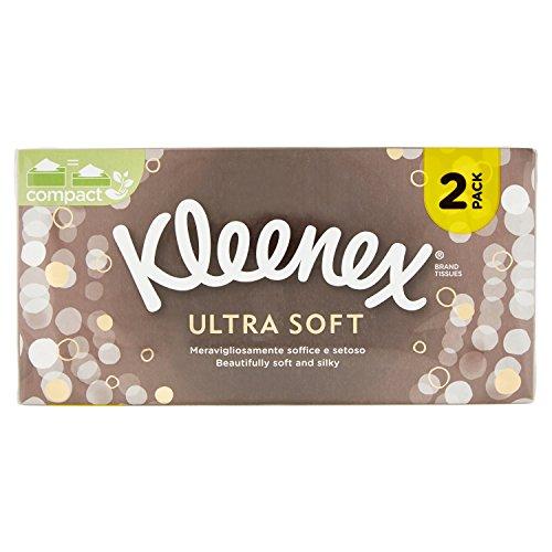 Kleenex Ultra Soft Fazzoletti, 2 Box da 80 Pezzi