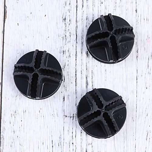 Vosarea, 20 connettori in plastica, per telai tubolari metallici di armadietti cubici (nero) 8