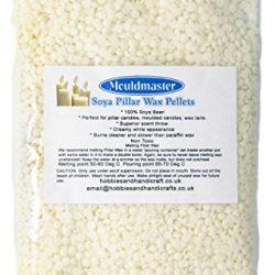 Mouldmaster Pellets di Cera per Candele a Colonna di soia 2 kg, Colore: Panna/Bianco Sporco 2