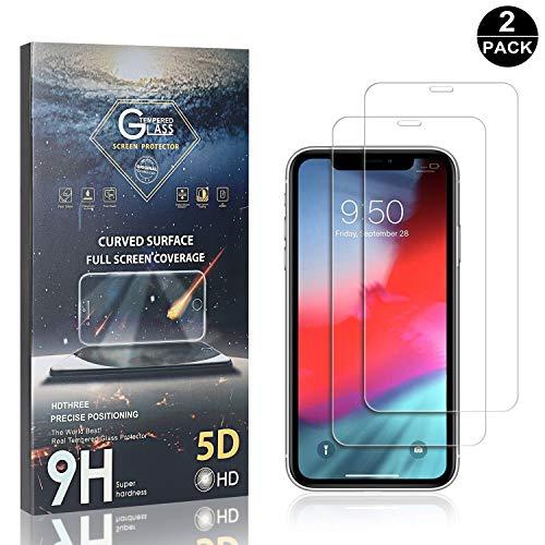 Bear Village® iPhone 11 6.1 Vetro Temperato, Senza Bolle Pellicola Protettiva in Vetro Temperato per Apple iPhone 11 6.1, Facile da Pulire, 3D Touch, 2 Pezzi