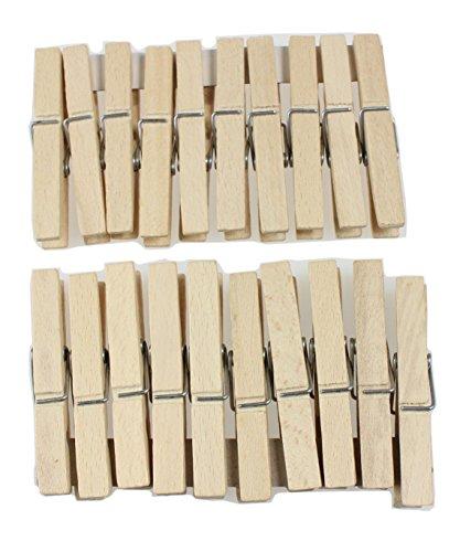 DB Gardentools Mollette per bucato, in legno, da appendere chiavi, 20 unità
